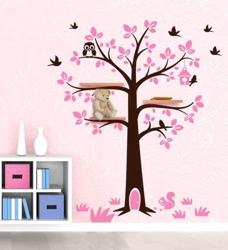 mensole cameretta bimbi sticker da muro albero porta mensole per decorare la