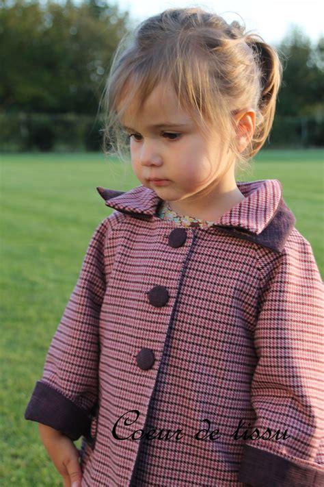 cuisine fille 2 ans manteau céphée aux couleurs prune et vieux j 39 aime