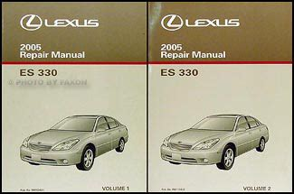 automotive service manuals 1999 lexus es navigation system 2005 lexus es 330 navigation system owners manual original