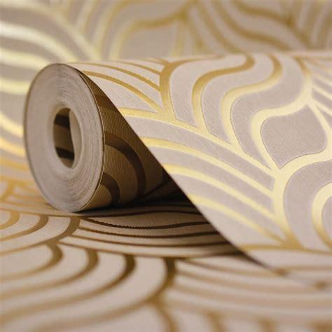 deco gold muriva deco gold metallic wallpaper 601534
