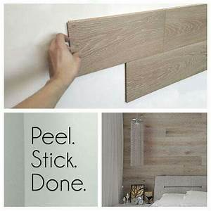 Peel-and-stick REAL wood paneling WOW! http://www
