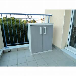 Armoire Basse Exterieur : armoire basse 2 portes gris taupe ~ Teatrodelosmanantiales.com Idées de Décoration
