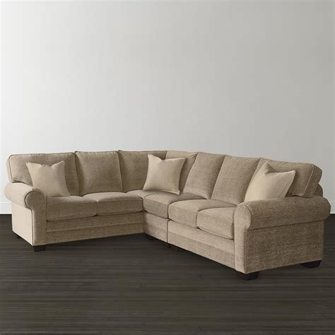 small sectionals for l shaped sectional custom upholstery bassett furniture