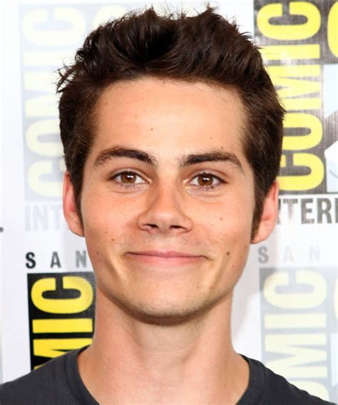 dylan obrien casual short straight hairstyle dark