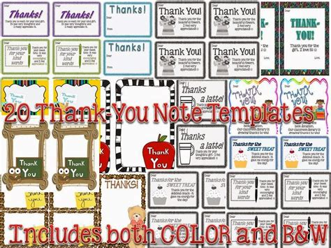 Thank-you Notes From Teachers To Students {freebie