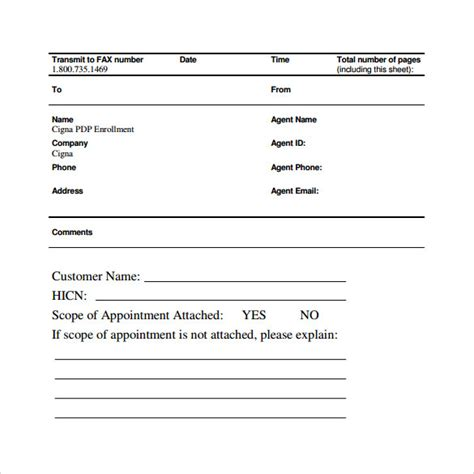 sample blank fax cover sheet templates