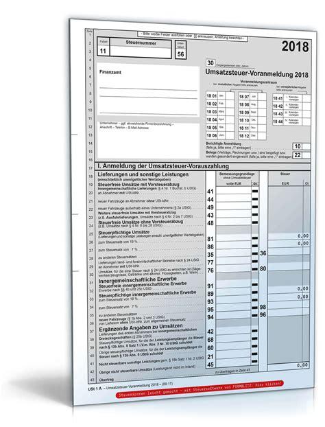 umsatzsteuer voranmeldung  steuerformular zum