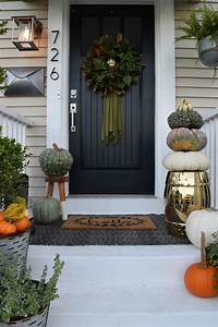 Fall, Front, Porch-, Outside, Our, Little, Cape