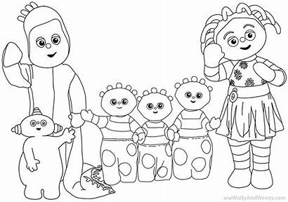 Night Garden Coloring Pages Characters