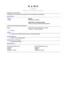 blank curriculum vitae resume exle 51 blank cv templates blank resume templates for microsoft word free blank