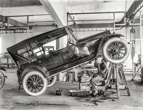 circa  studebaker motor car  repair shop