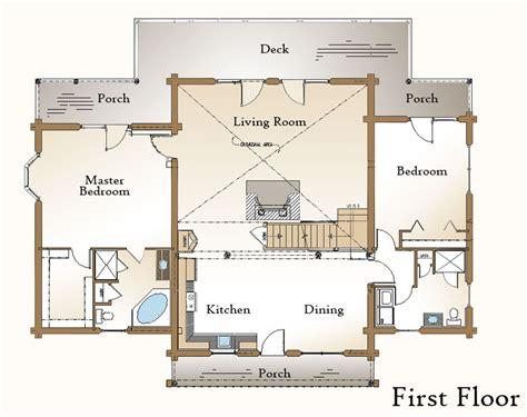 open living house plans the moultonboro log home floor plan 171 real log style
