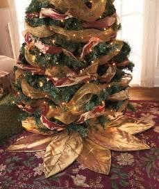 gold poinsettia christmas tree skirts holiday decor dress your tree ebay