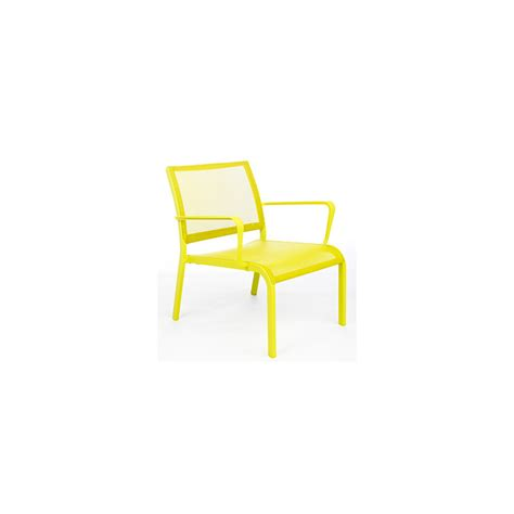 fauteuil bas de jardin agate vert anis salons de jardin