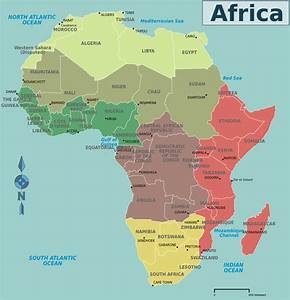 Africa Map Countries And Capitals | Map Of Africa ...
