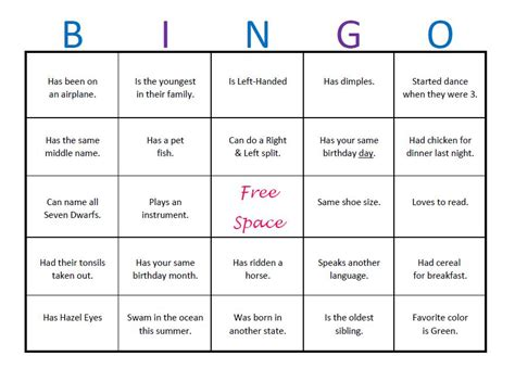 icebreaker bingo template the gallery for gt icebreaker bingo college