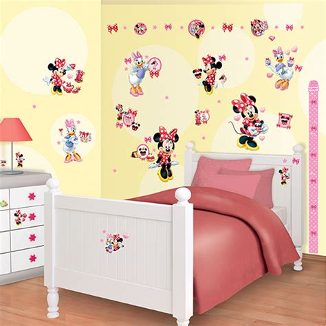 Minnie Mouse Bedroom Decor Uk by Walltastic Disney Minnie Mouse Room Decor Kit