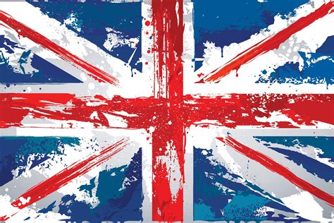 Painted Union Jack Wallpaper Wall Mural   MuralsWallpaper
