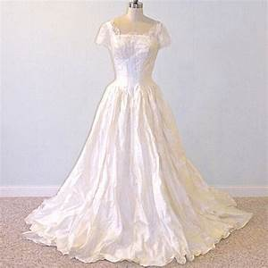 vintage 50s wedding dress 1950s wedding gown ivory silk With vintage 50s wedding dresses