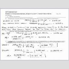 Chemistry Stoichiometry Worksheet Ap Chemistry Topic 2  Worksheets Samples