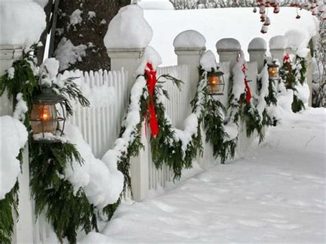garland for decorating fences 1000 ideas about white picket fences on fencing picket fences and picket fence gate