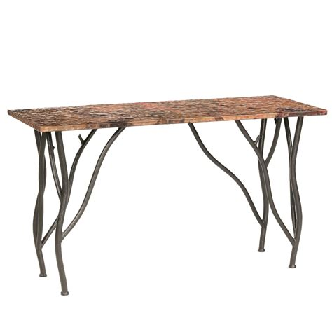rustic wrought iron table ls rustic wrought iron woodland console table
