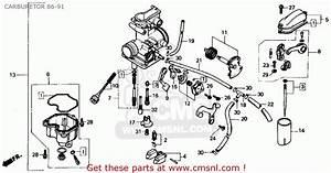 Honda Xr250r 1987 Usa Carburetor 86-91