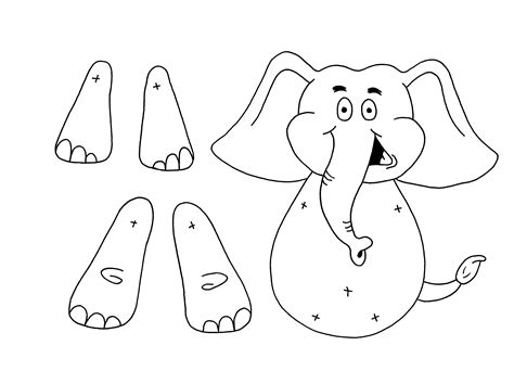 puppet template printable elephant puppet images