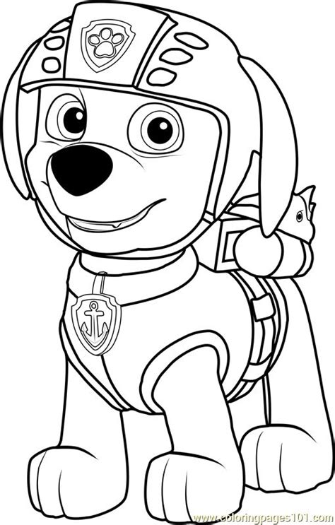 zuma coloring page coloring pages paw patrol coloring