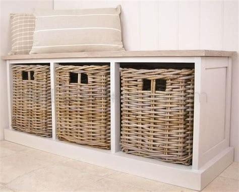 Bench Seat With Basket Storage by 25 Best Ideas About Storage Bench With Baskets On