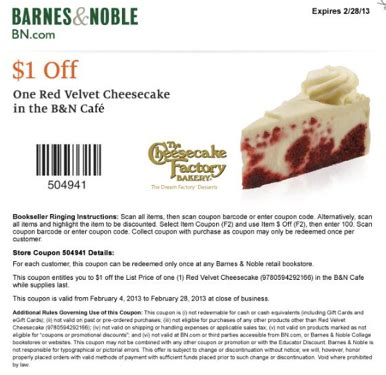 barnes and noble printable coupons barnes and noble 1 velvet printable