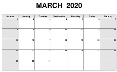 blank calendar march  sheet printable  platform