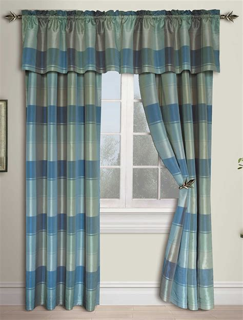 Plaid Drapery Panels by Plaid Panels Blue Green United Curtain Draperies