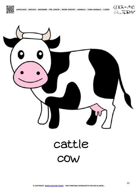 farm animal flashcard  printable card