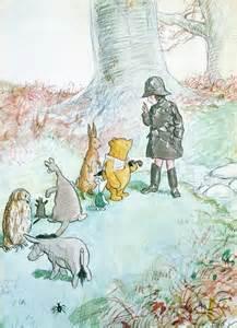 Kanga Winnie the Pooh and Christopher Robin