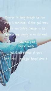 BTS || Paper he... Bts Jungkook Quotes