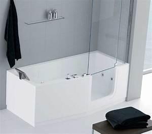 baignoire a porte douche senior douche pour handicape With baignoire douche à porte