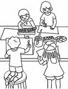 Classroom Scene Coloring Page