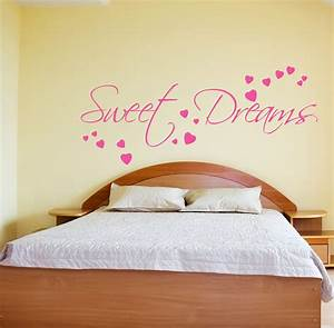 Sweet dreams wall sticker art decals quotes bedroom w