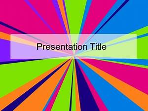 Mexican Powerpoint Theme Neon Stripes Powerpoint Background