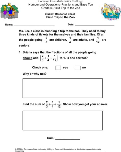 blank common core sheet template   page