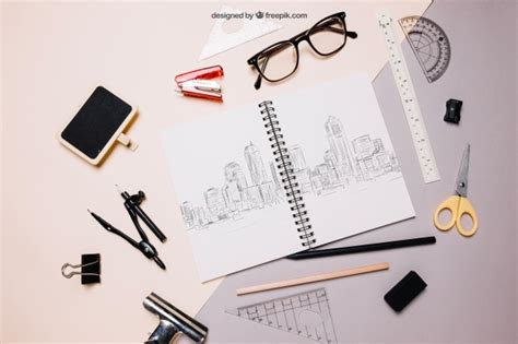 back to school mockup image back to school mockup with spiral notebook and glasses psd file free