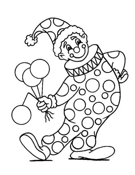 Kleurplaat Clown Met Ballonnen by Kleuren Nu Clown Met Ballonnen Kleurplaten