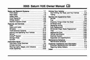 2005 Saturn Vue Owners Manual