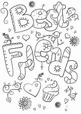 Coloring Pages Friend Freinds Printable Bff Valentine Teacher Colouring Supercoloring Words Valentines Word Worksheets Quote Usage Any Paper sketch template