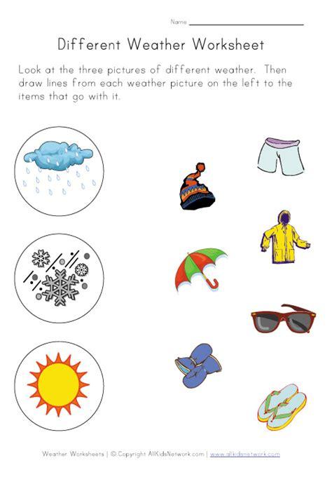 langkah pertama diprasekolah lembaran kerja tema cuaca