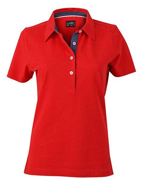 polo shirt damen damen plain poloshirt mit besatz im kragensteg rexlander 180 s