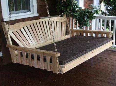 fanback red cedar swing bed al furniture magnolia porch