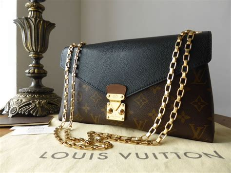louis vuitton pallas chain  monogram noir sold