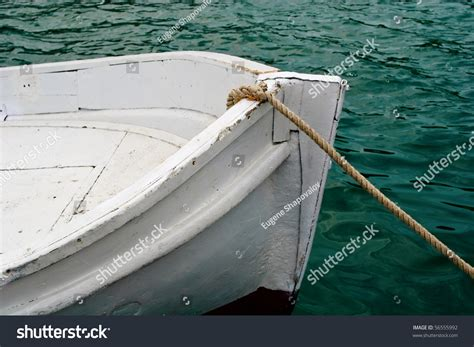Bow Of Old Boat by Bow Of The Old Painted Wooden Boat Stock Photo 56555992